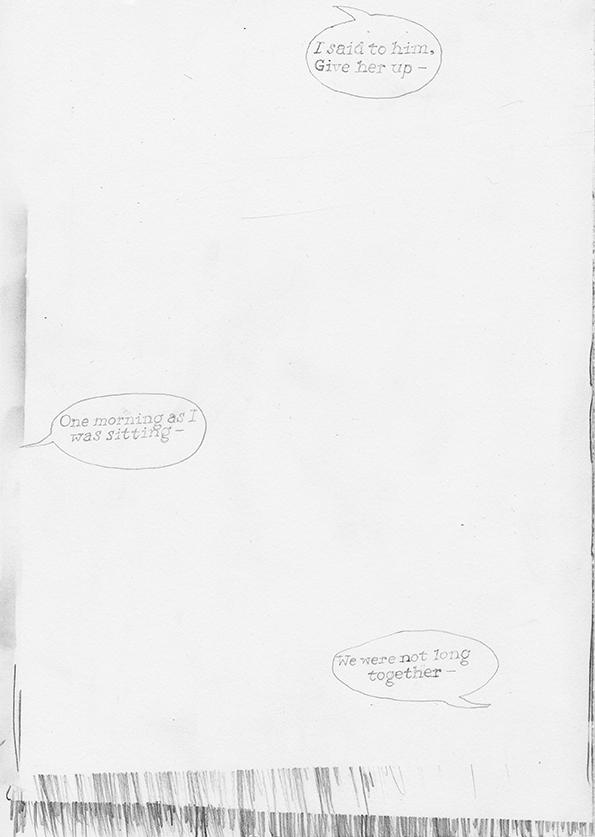 Frans Roermond, Beckett Play 19, 2017, Bleistift auf Papier, 29,7 x 21 cm